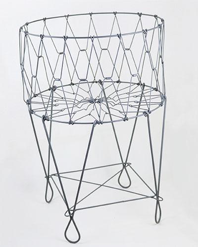 ソリッドグレー 伸縮型バスケットテーブル