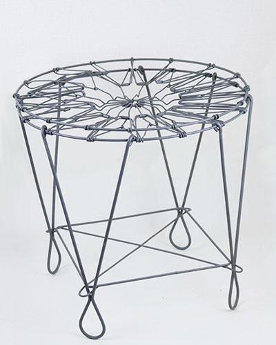 ソリッドグレー 伸縮型バスケットテーブルdetail