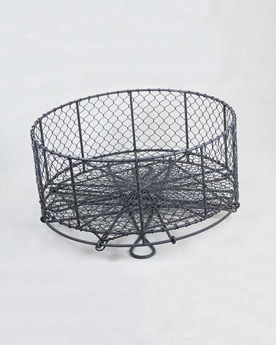 ソリッドグレー バスケットテーブルdetail
