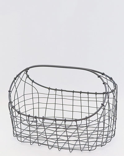 ソリッドグレー バッグ型バスケット・S/2detail