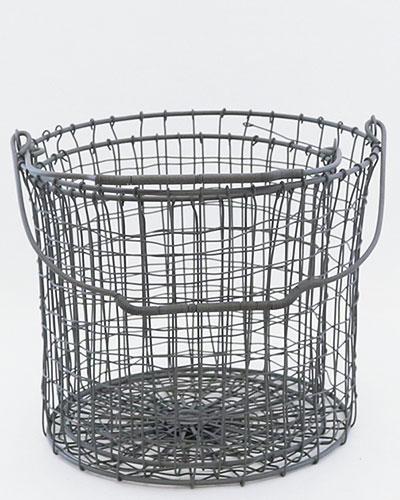 ソリッドグレー ラウンドバスケット・S/2detail